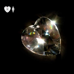 Swarovski Heart oblique view
