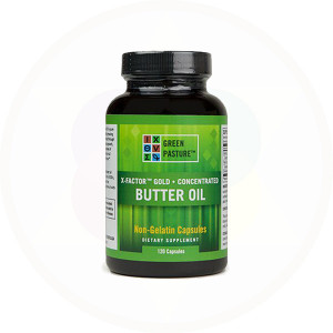 X-Factor Gold Concentrated Butter Oil Capsules by Green Pastures