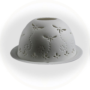 Luna Porcelain Vista Votive Dragonfly - AllisOne