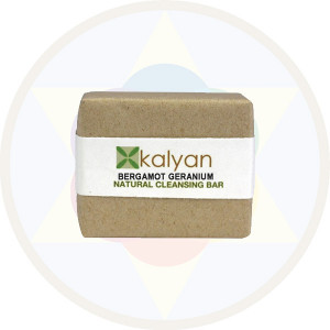 Kalyan Bergamot & Geranium Natural  Handcrafted Cleansing Bar