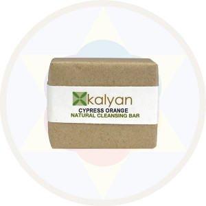 Kalyan Cypress & Orange Natural  Handcrafted Cleansing Bar