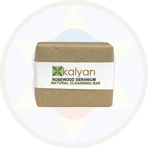 Kalyan Rosewood & Geranium Natural  Handcrafted Cleansing Bar