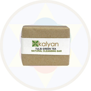 Kalyan Tulsi & Green Tea Natural Handcrafted Cleansing Bar